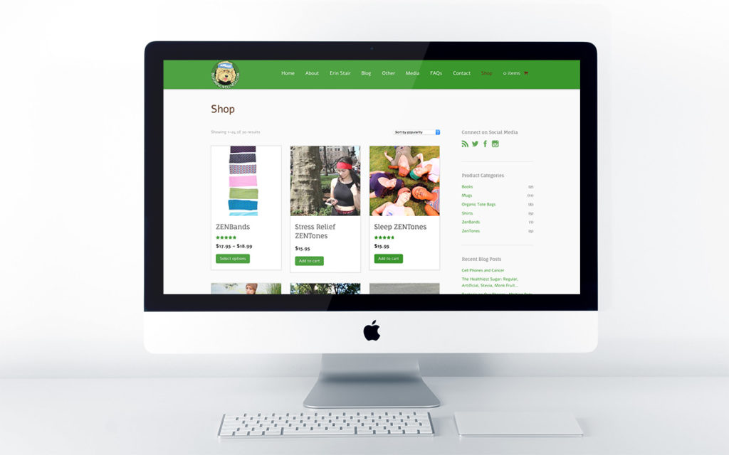 Home page design for Blooming Wellness