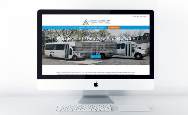 Home page design for Airport Connection Express Services