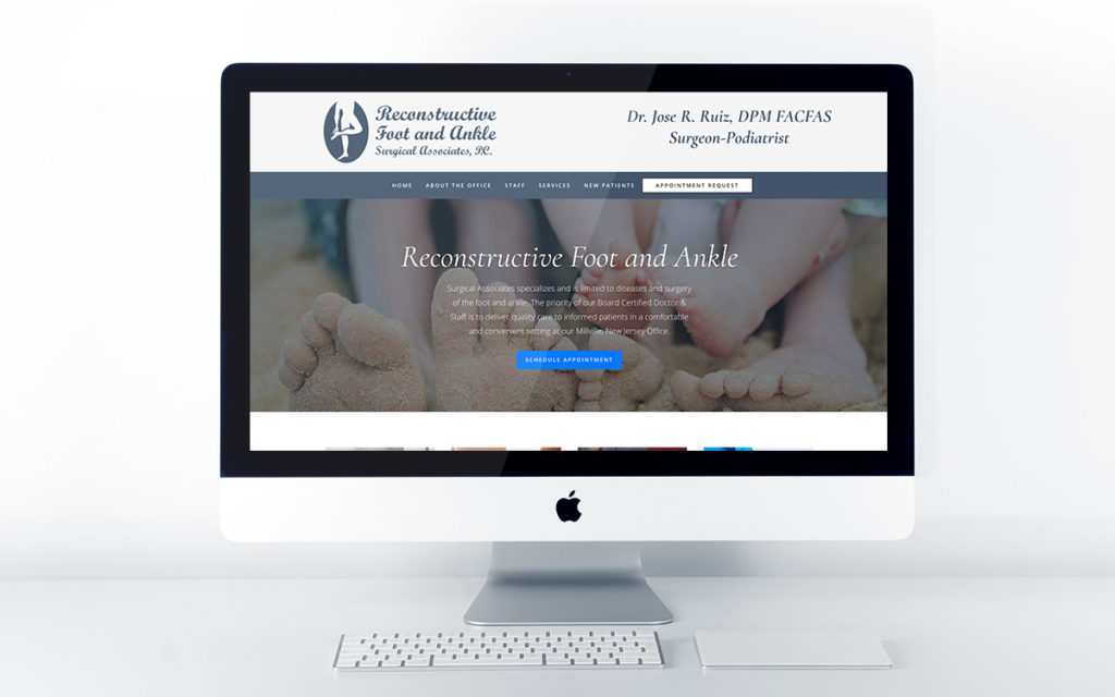 Medical website design design for Reconstructive Foot and Ankle Surgical Associates