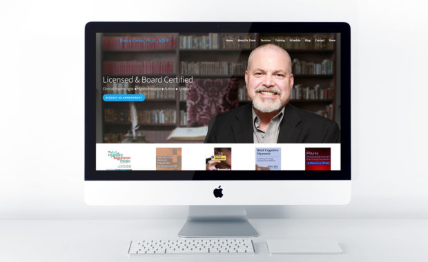 Home page design for Dr. Bruce Eimer