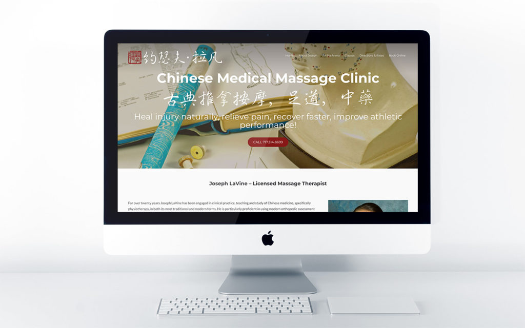 Home page design of Chinese Medical Massage Clinic