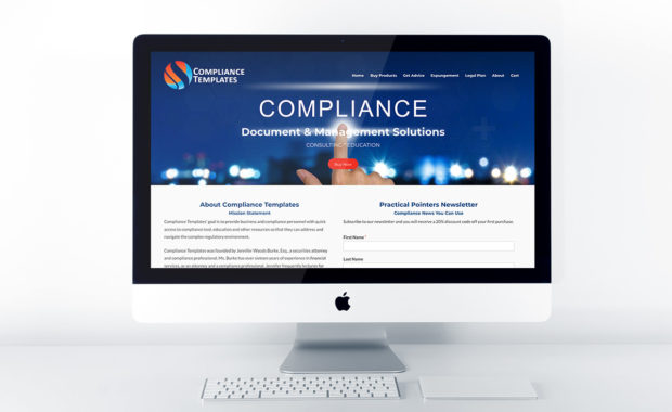 Home page design for Compliance Templates