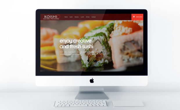 Home page design for Koishi Restaurant & Sushi Bar