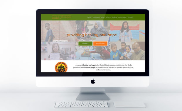 Home page design of OCCCDA