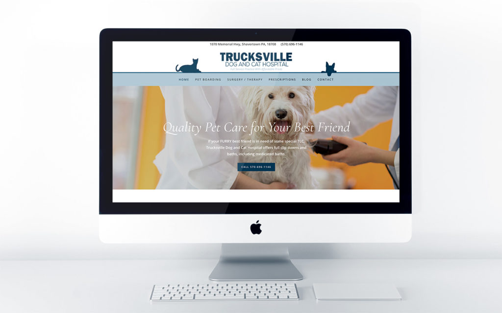 Home page design for Trucksville Dog & Cat Hospital