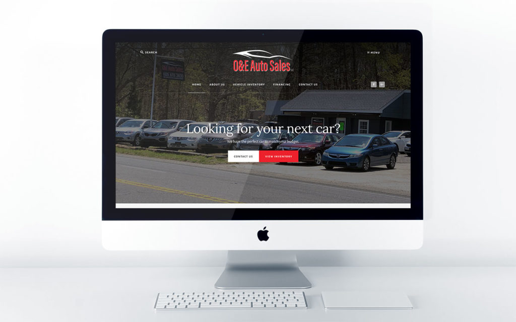 Auto Dealership Website Design for O&E Auto Sales