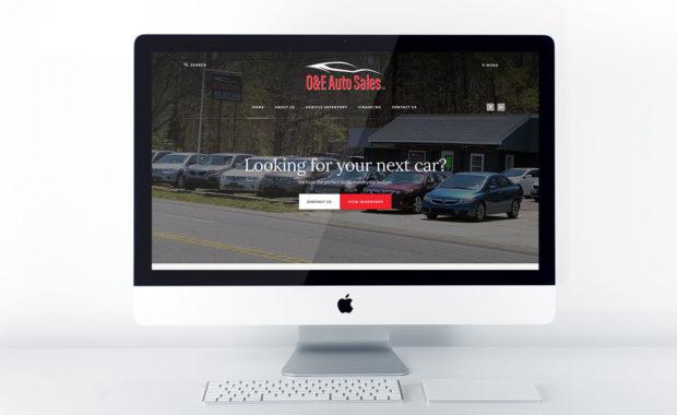 Auto Dealership Website Design for O&E Auto Sales